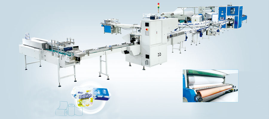 Full Automatic toilet paper roll manufacturing machine from Ean Tissue Machinery