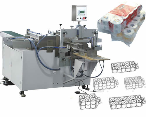 Semi Automatic Toilet Paper Packing machine For Multiple Rolls