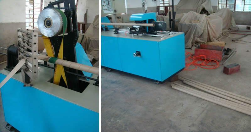 Spiral Tube Making Machine Testing in our factory