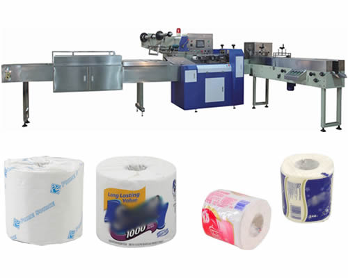 Automatic Single Roll Toilet Paper Packing Machine