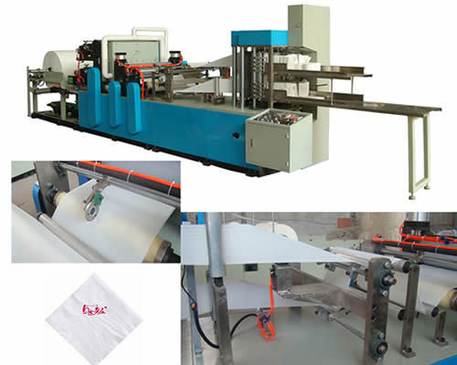 Automatic high speed colored tissue paper napkin making machine Double Deck
