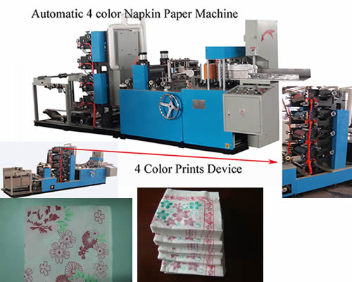Full-automatic Multi-colors Napkin Paper Machine