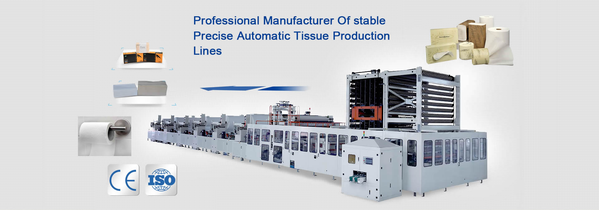 professional tissue paper making machine manufacturer of kinds of tissue production lines