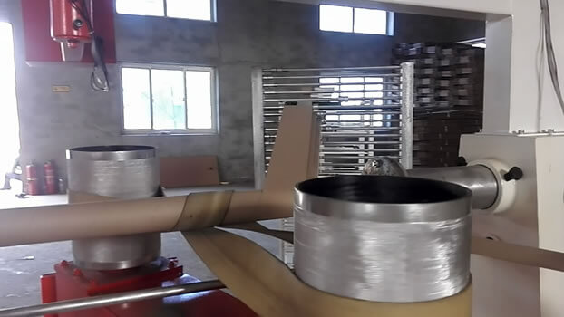 Spiral tube making machine rolling