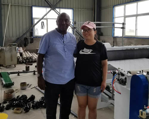 Kenyan customer visiting Ean factory