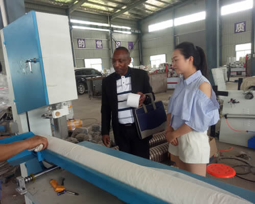 Tanzanian customer visiting Ean factory