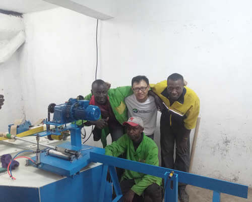 core making machine installation in Kenya