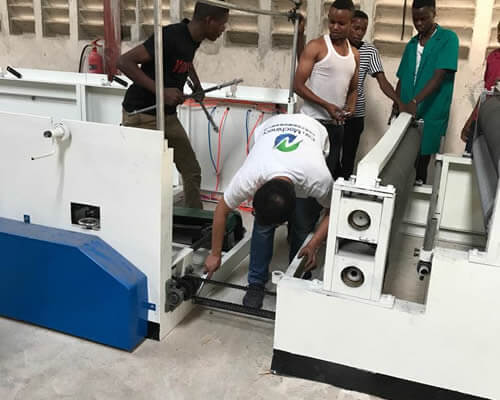 toilet paper machine installation in Tanzania